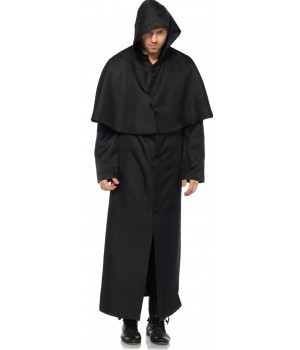Hooded Button Front Coat Cosplay Costume Closet Halloween Shop Halloween Cosplay Costumes | Kids, Adult & Plus Size Halloween Costumes
