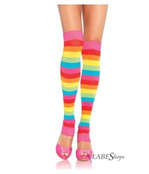 Rainbow Striped Leg Warmers Cosplay Costume Closet Halloween Shop Halloween Cosplay Costumes   Kids, Adult & Plus Size Halloween Costumes
