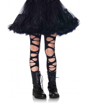 Childrens Black Tattered Tights Cosplay Costume Closet Halloween Shop Halloween Cosplay Costumes   Kids, Adult & Plus Size Halloween Costumes