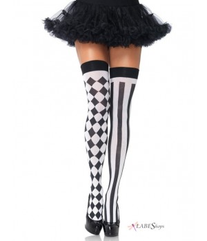 Harlequin Thigh Highs Pack of 3 Cosplay Costume Closet Halloween Shop Halloween Cosplay Costumes | Kids, Adult & Plus Size Halloween Costumes