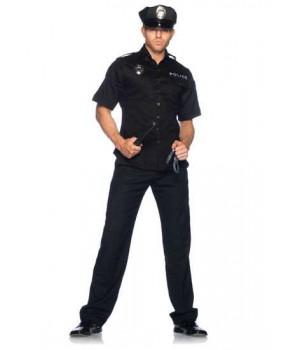 Cuff Em Cop Mens Adult Costume Cosplay Costume Closet Halloween Shop Halloween Cosplay Costumes   Kids, Adult & Plus Size Halloween Costumes