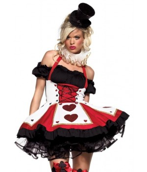 Pretty Playing Card Adult Queen of Hearts Costume Cosplay Costume Closet Halloween Shop Halloween Cosplay Costumes | Kids, Adult & Plus Size Halloween Costumes