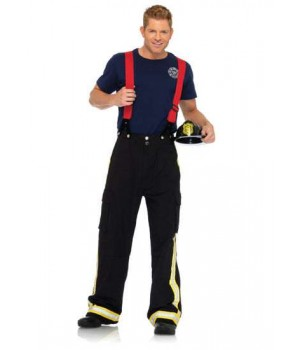 Fire Captain Adult Mens Costume Cosplay Costume Closet Halloween Shop Halloween Cosplay Costumes | Kids, Adult & Plus Size Halloween Costumes