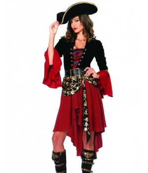 Cruel Seas Captain Pirate Costume Cosplay Costume Closet Halloween Shop Halloween Cosplay Costumes   Kids, Adult & Plus Size Halloween Costumes