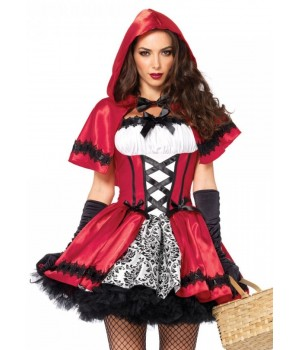 Gothic Red Riding Hood Womens Halloween Costume Cosplay Costume Closet Halloween Shop Halloween Cosplay Costumes | Kids, Adult & Plus Size Halloween Costumes