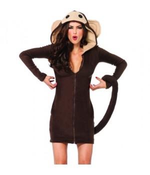 Cozy Monkey Fleece Costume Cosplay Costume Closet Halloween Shop Halloween Cosplay Costumes | Kids, Adult & Plus Size Halloween Costumes