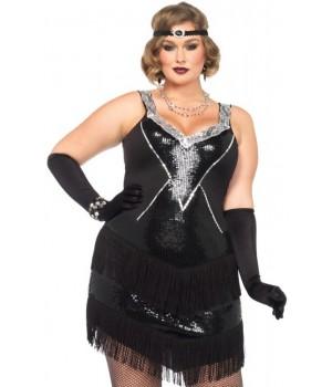 Glamour Flapper Roaring 20s Plus Size Costume Cosplay Costume Closet Halloween Shop Halloween Cosplay Costumes | Kids, Adult & Plus Size Halloween Costumes