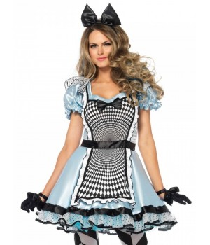 Hypnotic MIss Alice Adult Womens Halloween Costume Cosplay Costume Closet Halloween Shop Halloween Cosplay Costumes | Kids, Adult & Plus Size Halloween Costumes