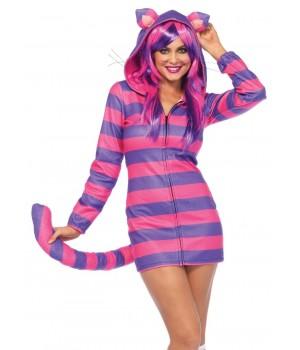 Cozy Cheshire Cat Hoodie Costume Cosplay Costume Closet Halloween Shop Halloween Cosplay Costumes | Kids, Adult & Plus Size Halloween Costumes