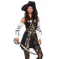 Black Sea Buccaneer Pirate Womens Costume