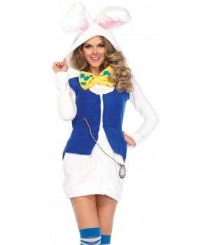 Cozy White Rabbit Womens Wonderland Costume Cosplay Costume Closet Halloween Shop Halloween Cosplay Costumes | Kids, Adult & Plus Size Halloween Costumes