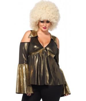 Disco Diva Plus Size Womens Costume Cosplay Costume Closet Halloween Shop Halloween Cosplay Costumes | Kids, Adult & Plus Size Halloween Costumes