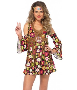 Starflower Hippie Womens Halloween Costume Cosplay Costume Closet Halloween Shop Halloween Cosplay Costumes | Kids, Adult & Plus Size Halloween Costumes