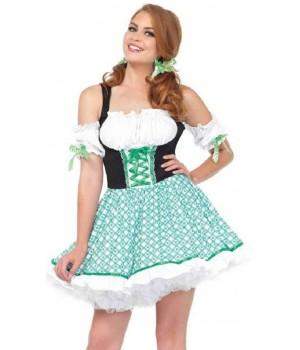 Clover O Cutie Irish Lass Womens Costume Cosplay Costume Closet Halloween Shop Halloween Cosplay Costumes | Kids, Adult & Plus Size Halloween Costumes