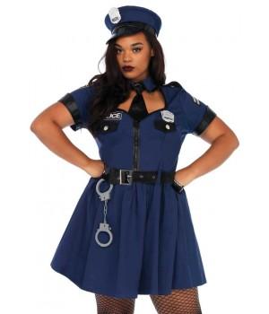 Flirty Cop Plus Size Womens Costume Cosplay Costume Closet Halloween Shop Halloween Cosplay Costumes | Kids, Adult & Plus Size Halloween Costumes