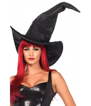 Oversized Ruched Witches Hat Cosplay Costume Closet Halloween Shop Halloween Cosplay Costumes   Kids, Adult & Plus Size Halloween Costumes