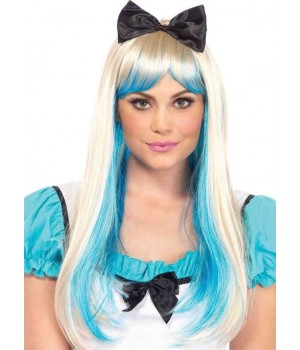Alice Costume Wig with Bow Cosplay Costume Closet Halloween Shop Halloween Cosplay Costumes | Kids, Adult & Plus Size Halloween Costumes