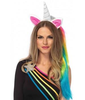 Unicorn Headband with Mane Cosplay Costume Closet Halloween Shop Halloween Cosplay Costumes | Kids, Adult & Plus Size Halloween Costumes
