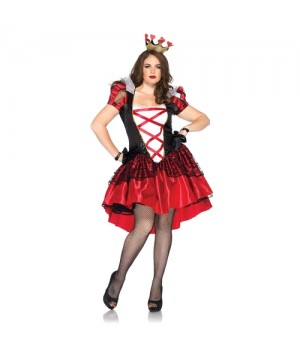 Royal Red Queen Plus Size Womens Costume Cosplay Costume Closet Halloween Shop Halloween Cosplay Costumes | Kids, Adult & Plus Size Halloween Costumes