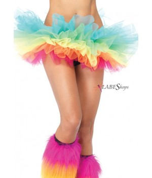 Rainbow Organza Tutu Petticoat Cosplay Costume Closet Halloween Shop Halloween Cosplay Costumes   Kids, Adult & Plus Size Halloween Costumes