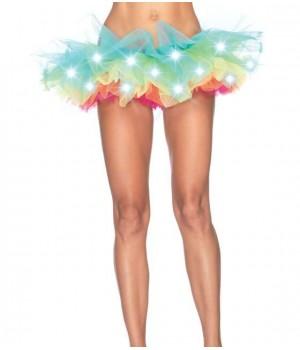 LED Light Up Rainbow Neon Tutu Petticoat Cosplay Costume Closet Halloween Shop Halloween Cosplay Costumes   Kids, Adult & Plus Size Halloween Costumes