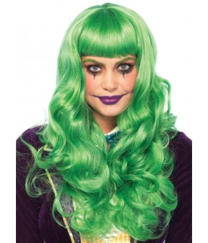Misfit Mayhem Long Green Wavy Wig Cosplay Costume Closet Halloween Shop Halloween Cosplay Costumes | Kids, Adult & Plus Size Halloween Costumes