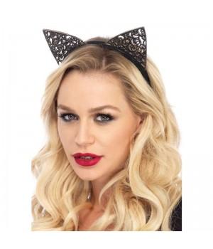 Filigree Glitter Kitty Cat Ears Cosplay Costume Closet Halloween Shop Halloween Cosplay Costumes | Kids, Adult & Plus Size Halloween Costumes