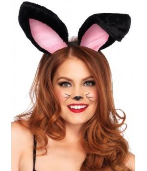 Plush Bunny Ears in Black or White Cosplay Costume Closet Halloween Shop Halloween Cosplay Costumes | Kids, Adult & Plus Size Halloween Costumes
