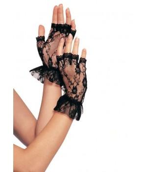 Ruffled Lace Wrist Length Fingerless Gloves Cosplay Costume Closet Halloween Shop Halloween Cosplay Costumes | Kids, Adult & Plus Size Halloween Costumes