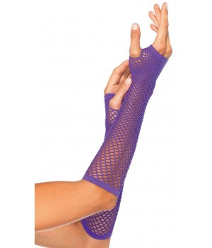 Neon Purple Triangle Net Fingerless Gloves Cosplay Costume Closet Halloween Shop Halloween Cosplay Costumes | Kids, Adult & Plus Size Halloween Costumes