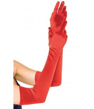 Red Satin Extra Long Opera Gloves Cosplay Costume Closet Halloween Shop Halloween Cosplay Costumes | Kids, Adult & Plus Size Halloween Costumes