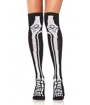 Skeleton Over the Knee Socks Cosplay Costume Closet Halloween Shop Halloween Cosplay Costumes   Kids, Adult & Plus Size Halloween Costumes