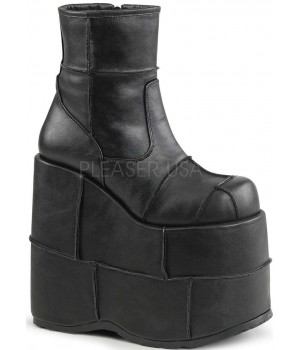Stack Mens Platform Patched Ankle Boot Cosplay Costume Closet Halloween Shop Halloween Cosplay Costumes   Kids, Adult & Plus Size Halloween Costumes