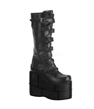 Mens Extreme Platform Knee Boot with Lace Up Strap Cosplay Costume Closet Halloween Shop Halloween Cosplay Costumes   Kids, Adult & Plus Size Halloween Costumes