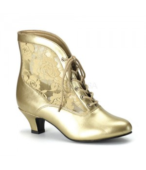 Victorian Dame Gold Ankle Boot Cosplay Costume Closet Halloween Shop Halloween Cosplay Costumes   Kids, Adult & Plus Size Halloween Costumes