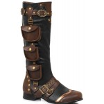 Amos Multi Pocket Steampunk Mens Knee High Boots