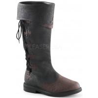 Distressed Black Rennaissance Costume Boots