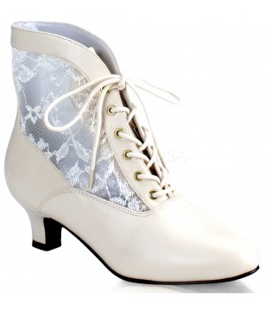 Victorian Dame Ivory Ankle Boot Cosplay Costume Closet Halloween Shop Halloween Cosplay Costumes   Kids, Adult & Plus Size Halloween Costumes