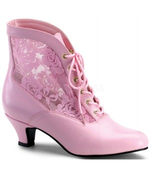 Victorian Dame Baby Pink Ankle Boot Cosplay Costume Closet Halloween Shop Halloween Cosplay Costumes   Kids, Adult & Plus Size Halloween Costumes