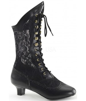 Victorian Dame Black Lace Boot Cosplay Costume Closet Halloween Shop Halloween Cosplay Costumes   Kids, Adult & Plus Size Halloween Costumes