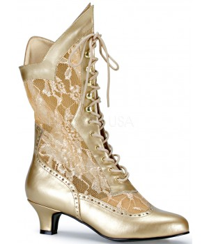 Victorian Dame Gold Lace Boot Cosplay Costume Closet Halloween Shop Halloween Cosplay Costumes   Kids, Adult & Plus Size Halloween Costumes