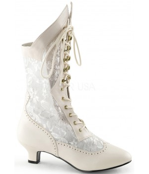 Victorian Dame Ivory Lace Boot Cosplay Costume Closet Halloween Shop Halloween Cosplay Costumes   Kids, Adult & Plus Size Halloween Costumes
