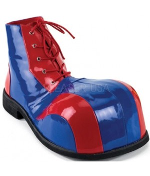 Red and Blue Adult Clown Shoes Cosplay Costume Closet Halloween Shop Halloween Cosplay Costumes   Kids, Adult & Plus Size Halloween Costumes