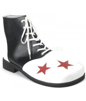 Black and White Clown Shoes Cosplay Costume Closet Halloween Shop Halloween Cosplay Costumes   Kids, Adult & Plus Size Halloween Costumes