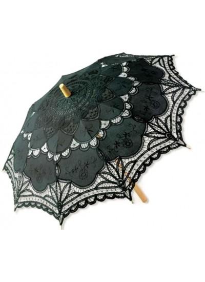 Black Battenburg Lace Parasol at Cosplay Costume Closet Halloween Shop, Halloween Cosplay Costumes | Kids, Adult & Plus Size Halloween Costumes