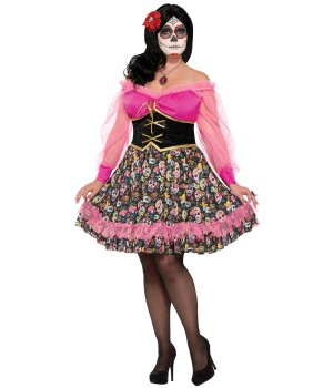 Day Of The Dead Lady Plus