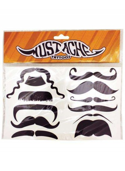 Mustache Temporary Tattoos at Cosplay Costume Closet Halloween Shop, Halloween Cosplay Costumes | Kids, Adult & Plus Size Halloween Costumes