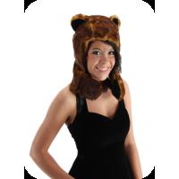 Bear Hug Plush Hoodie Hat