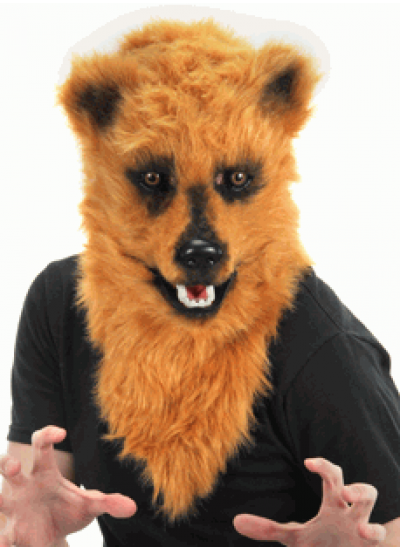 Brown Bear Mouth Mover Mask at Cosplay Costume Closet Halloween Shop, Halloween Cosplay Costumes | Kids, Adult & Plus Size Halloween Costumes