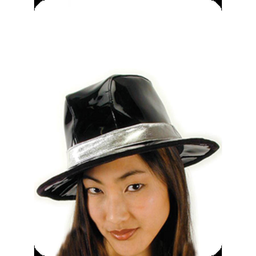 billionaire black vinyl gangster hat